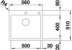 Мойка Blanco Zerox 500-IF/A схема
