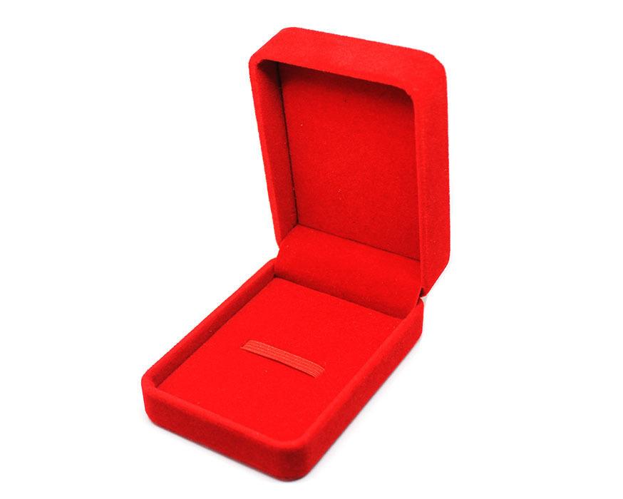 коробочка бархатная красная big оптом
