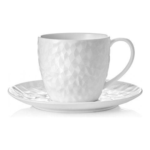Набор чашка с блюдцем Walmer Crystal, (0,25 литра), белый