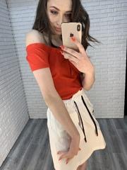 белая юбка с завышенной талией оптом