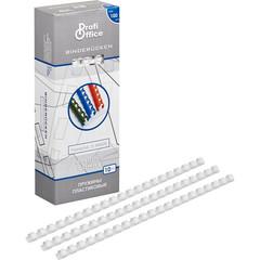 Пружины для переплета пластиковые ProfiOffice 10 мм белые (100 штук в упаковке)