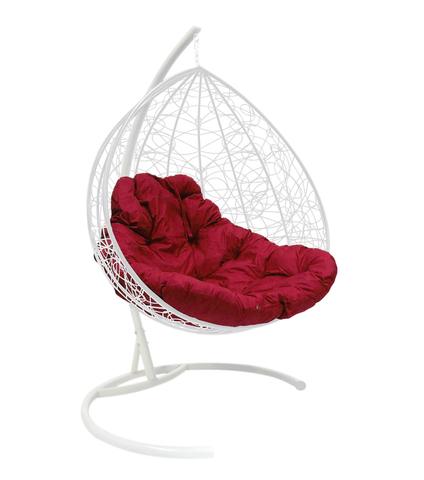 Кресло подвесное Lagos TWIN white/burgundy