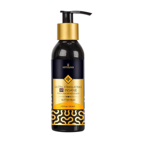 Возбуждающий лубрикант на гибридной основе Sensuva - ON Ultra-Stimulating Insane Personal Moisturizer Butter Rum 125 ml