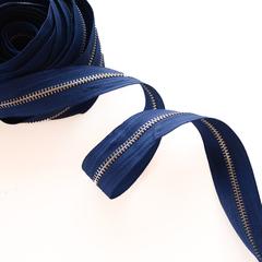 Молния металлическая №5, Синий, цена за 10 см.