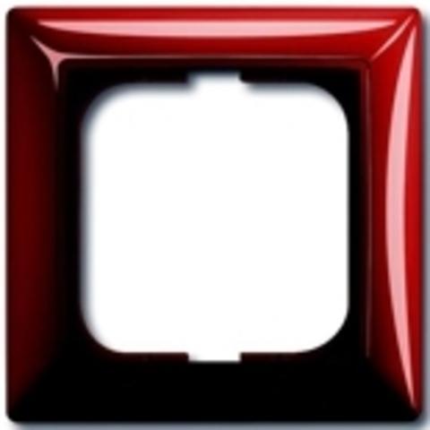 Рамка на 1 пост. Цвет красный. ABB(АББ). Basic 55(Бейсик 55). 1725-0-1516