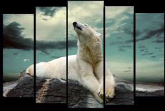 """Модульная картина """"Белый медведь"""""""