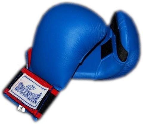 Накладки карате SPRINTER выполнены из ис.кожи с предварительно сформированным вкладышем, имеют удобные резинки для крепления на руке. (горшок) размер L