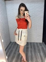 белая юбка с завышенной талией купить