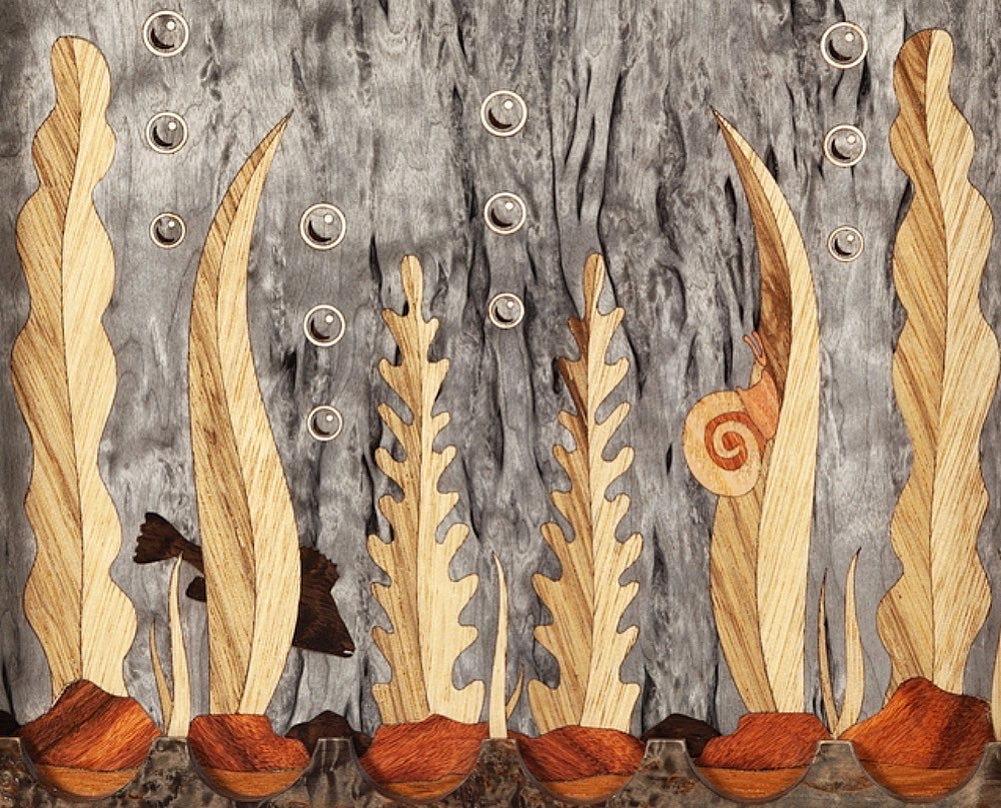 """Деревянные нарды """"Подводный мир»"""