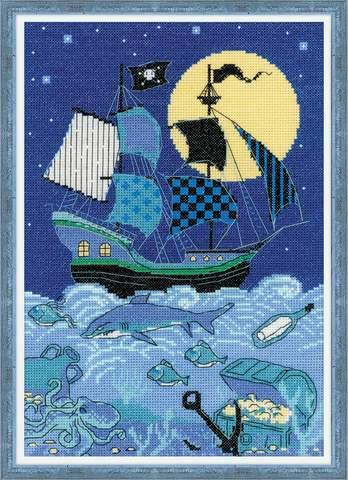 Набор для вышивания крестом «Пиратский корабль» (1511)
