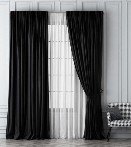 Комплект штор Габриэль черный