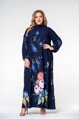 Платье с воротником стойка 140207