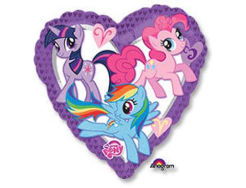 Фольгированный шар сердце My Little Pony