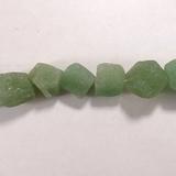Бусина из авантюрина зеленого, фигурная, 11x13 - 13x15 мм (природная форма)