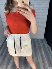 белая юбка с завышенной талией nadya