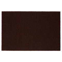 Коврик ТРАВКА темно-коричневый, на противоскользящей основе, 60*90 см