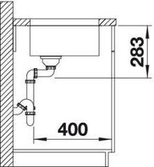 Мойка Blanco Supra 450-U - вид сбоку