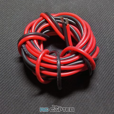 Медный провод 12AWG (1м красного + 1м чёрного) в силиконовой изоляции 2 метра