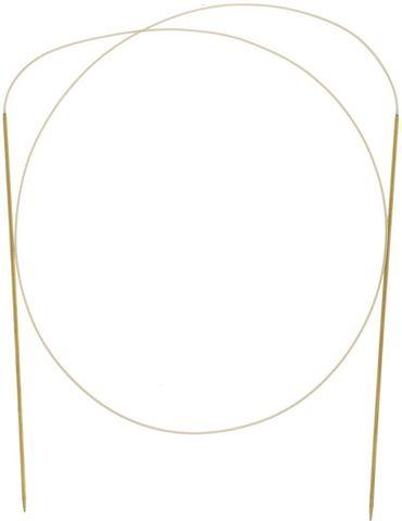 Спицы Addi круговые золотистые с удлиненным кончиком для тонкой пряжи  80 см, 1.75 мм