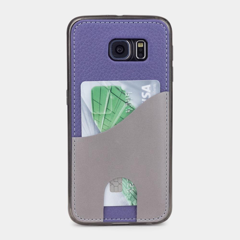 Чехол-накладка Andre для Samsung S6 из натуральной кожи теленка, цвета сирени