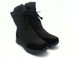 516ц Ботинки зима текстиль с декор резинкой на подъеме