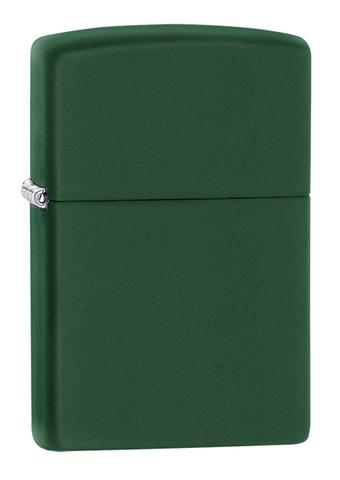 Зажигалка Zippo Classic с покрытием Green Matte, латунь/сталь, зелёная, матовая, 36x12x56 мм123
