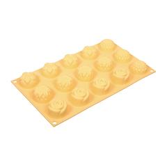 Форма из силикона «Цветочки» 15 ячеек 29,5х17,5х2,5 см