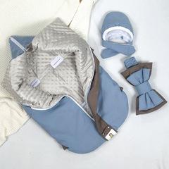 СуперМамкет. Конверт-одеяло всесезонное Мультикокон ®, Soft, blue stone вид 4