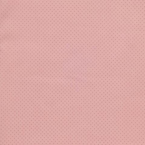 Ткань хлопковая розовые точки на розовом. Отрез 50*80 см