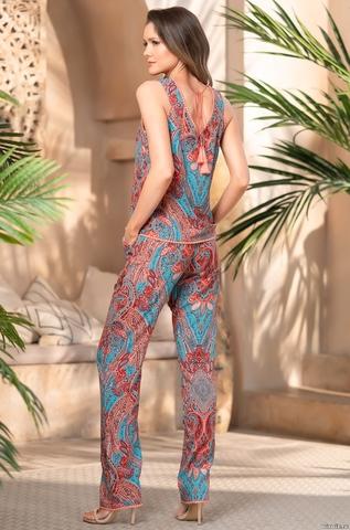 Комплект из топа и брюк  Mia-Amore ATHENA АФИНА 1646 коралл