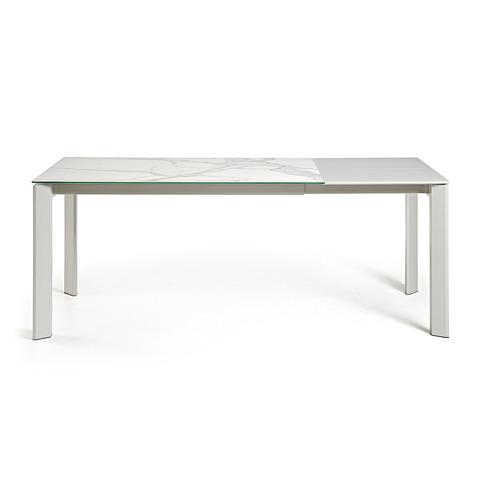 Стол Atta 160 (220) x90 керамика белый