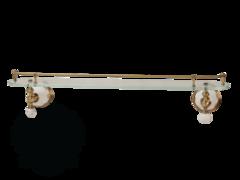 Полка с галереей 60см. Migliore Provance ML.PRO-60.520 керамика с декором