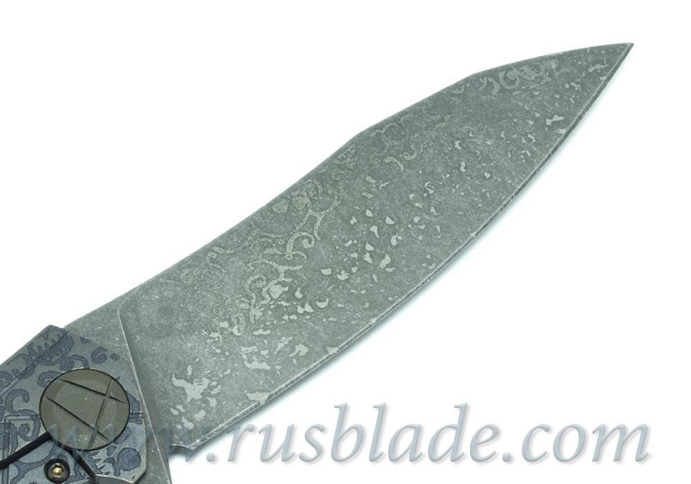 CKF Asymmetric midi CUSTOM SKULL (Alexey Konygin design, S90V, titanium, CF) - фотография