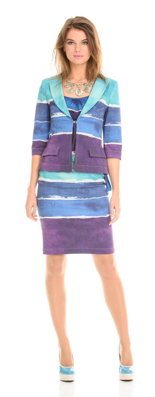 Жакет Д489-118 - Жакет приталенной формы с застежкой на один крючок. Классическая форма воротника с V-образным вырезом и рукав 3/4 придают жакету элегантность и комфорт. Незаменимая модель на лето- можно одеть как в офис, так и на прогулку. Отлично сочетается с юбками, брюками, джинсами разных стилей.