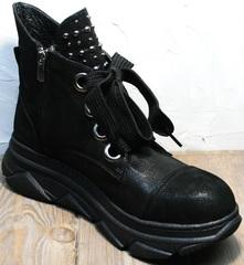 Ботинки сникерсы женские Rifellini Rovigo 525 Black.