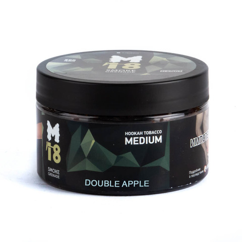 Табак M18 Medium Double apple (Двойное яблоко) 200 г
