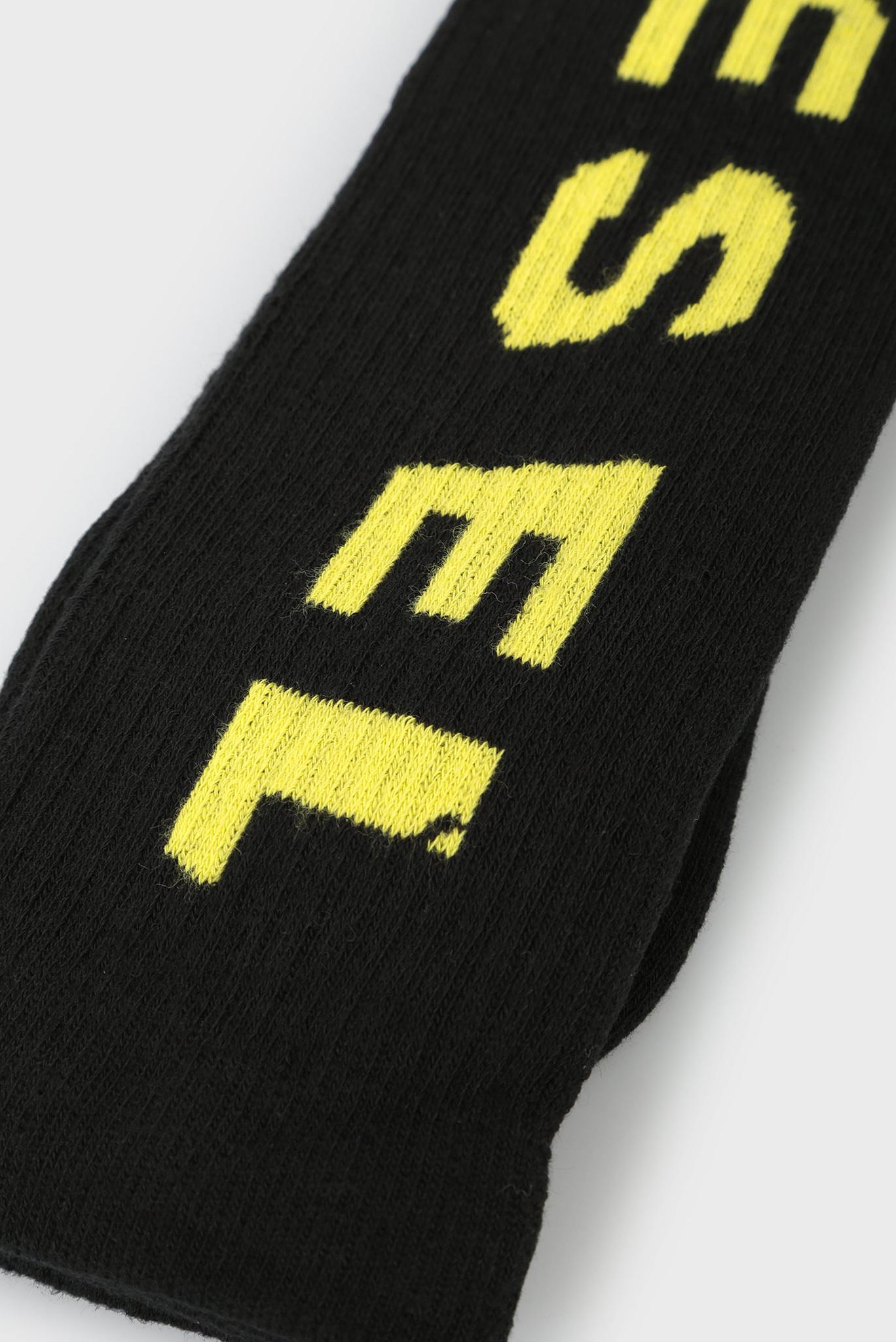Мужские черные высокие носки SKM LONG 06 Diesel
