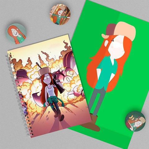 Венди Кордрой: набор из тетради, плаката А4 и 3 значков