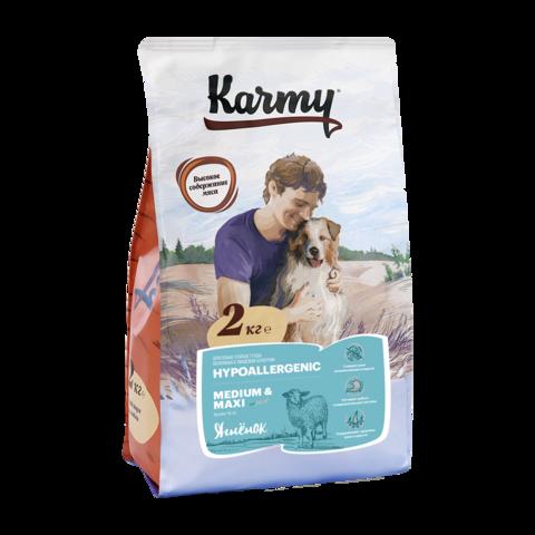 Karmy Hypoallergenic Medium & Maxi Сухой корм для собак средних и крупных пород склонных к аллергии с ягненком