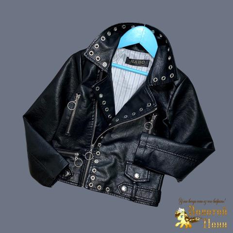 Куртка эко-кожа девочке (5-13) 210524-К74026
