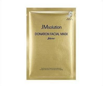 Регенерирующая маска с коллоидным золотом, комплексом гиалуроновых кислот и пептидов JMsolution Donation Facial Mask Save