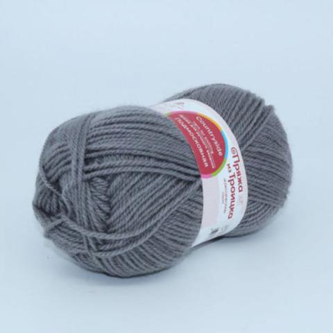 Пряжа Подмосковная (Троицкая) 48 Серый