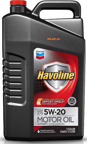 HAVOLINE 5W-20 моторное масло для бензиновых двигателей Chevron (5 литров)