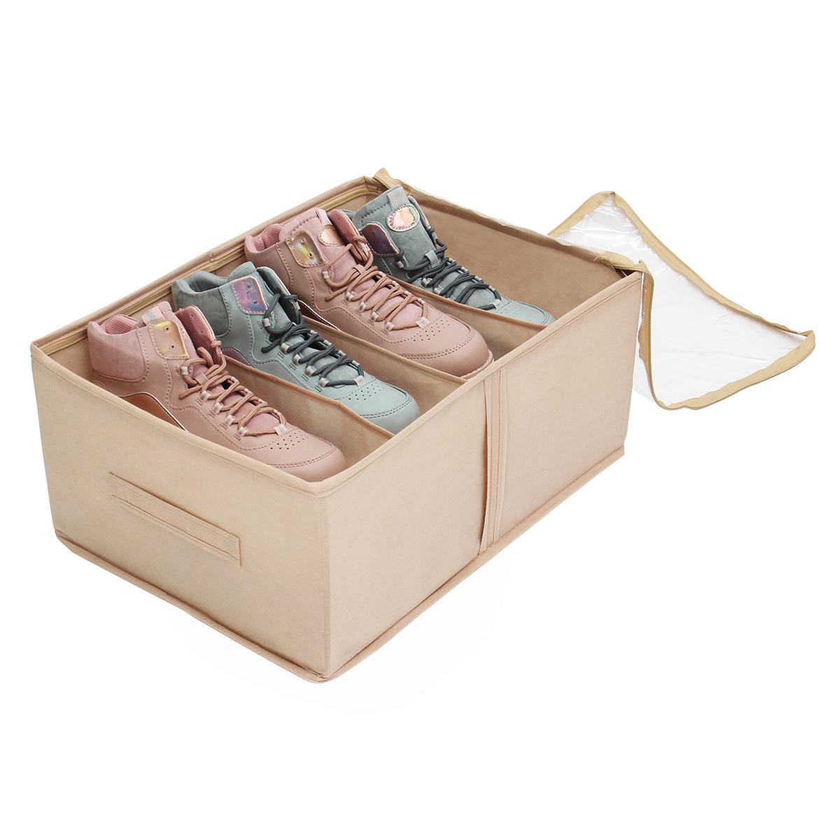 Кофр для обуви 34х48х20 см, 4 ячейки, Каир