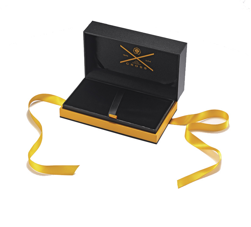 Набор подарочный Cross Townsend, перьевая ручка + конвертер + 3 картриджа + флакон с черными чернила