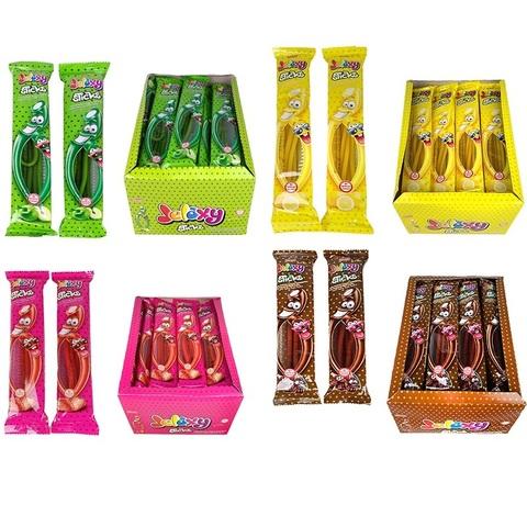 Jelaxy LIQUORICE Sour Stick MIX 35gr (24х8)  Жевательный мармелад Кисло-Cладкие палочки в ассортименте 1кор*8бл*24шт,35гр