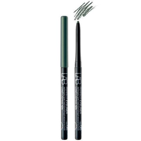 Карандаш для глаз LAB colour Perfect Eyeliner Long Lasting 12h контурный механический тон 06 зелёно-изумрудный , ( Белита )