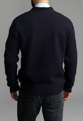 Кардиган мужской G136-07-соты (синий)