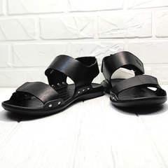 Черные босоножки сандали мужские кожаные Zlett 7083 Black.
