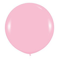 Розовый шар 60/90 см на атласной ленте